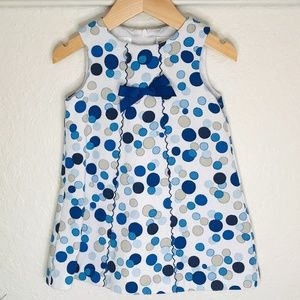SARA LOUISE 👒ENGLAND BLUE POLKA DOT A LINE DRESS